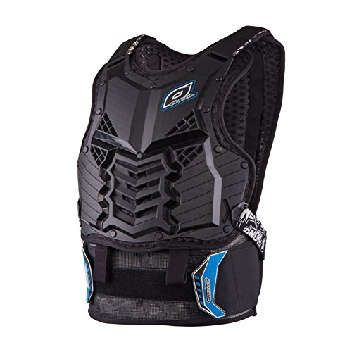O'Neal | Motorcycle Protector Vest | Enduro Motocross Downhill | Injection Moulded Plastic, Protection on Abdomen & Lower Back | Holeshot Roost Guard Long | Adult | Blue | Size L