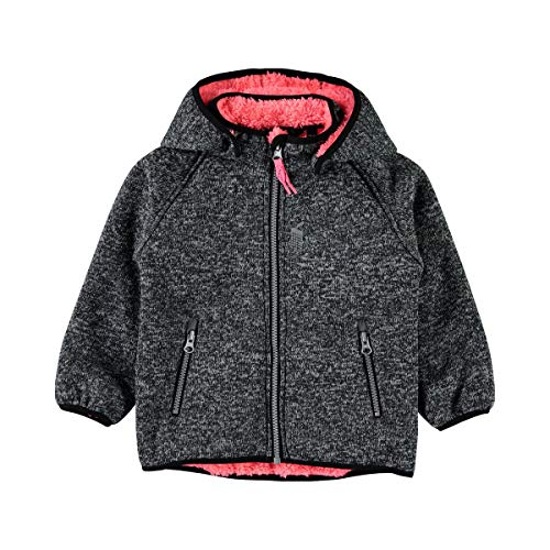 NAME IT NAME IT Softshelljacke Strickoptik mit Teddyfell