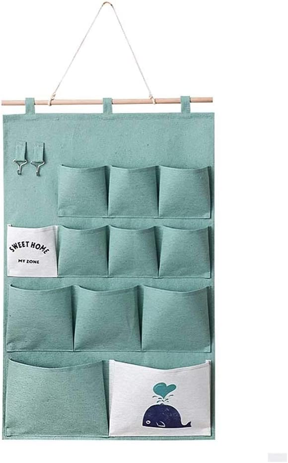 JYDQM Cotton Linen Wall Free shipping Choice New Hanging Storage Po Pockets Door Bag