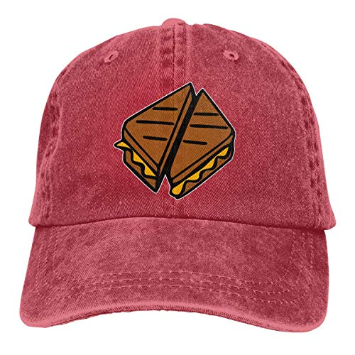 Baseballmütze für Männer Frauen, gegrillter Käse Frauen Baumwolle verstellbare Jeans Mütze Hut