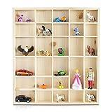 LAUBLUST - Setzkasten aus Holz in Größe L für Sammelgegenstände - Kiefer Unbehandelt - ca. 45 x 40 x 4 cm - Schaukasten aus Massivholz