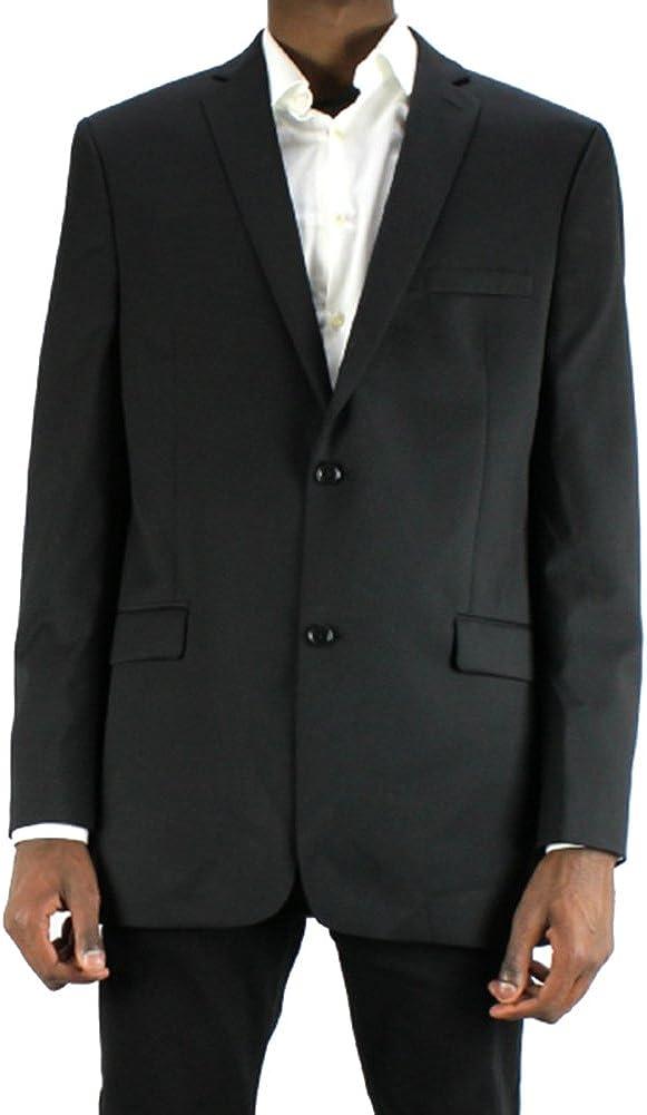 Alfani Red Slim Black Solid Wool Two Button New Men's Sport Coat