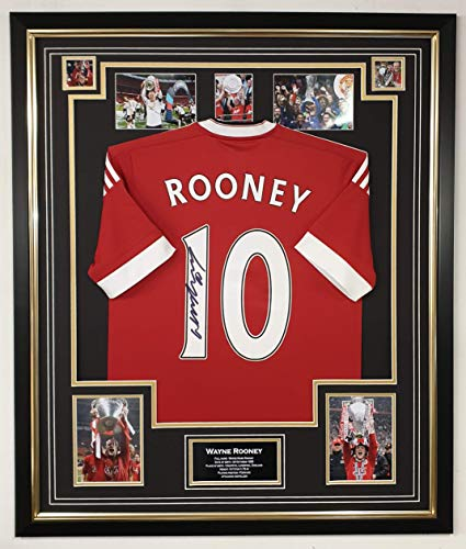 WWW.SIGNEDMEMORABILIASHOP.CO.UK Signiertes Shirt Wayne Rooney of Manchester United