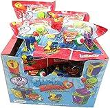 Magic Box SUPERZINGS Caja Completa 12 Sobres 2 Personajes Cada uno (1 héroe + 1 Enemigo) y 2 escondites (Hideout) Total Originales Rivals of Kaboom Serie 1