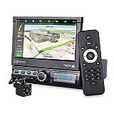 MiCarBa Autoradio Single DIN avec GPS Navigation Caméra Carte 7' HD Autoradio Bluetooth Autoradio MP3 MP5 Vidéo Stéréo Radio