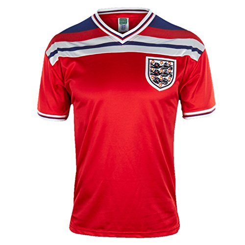 England Official Soccer Gift Mens 1982 World Cup Finals Away Shirt Red Large