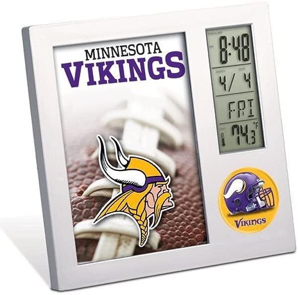 Minnesota Vikings Clock Team Desk