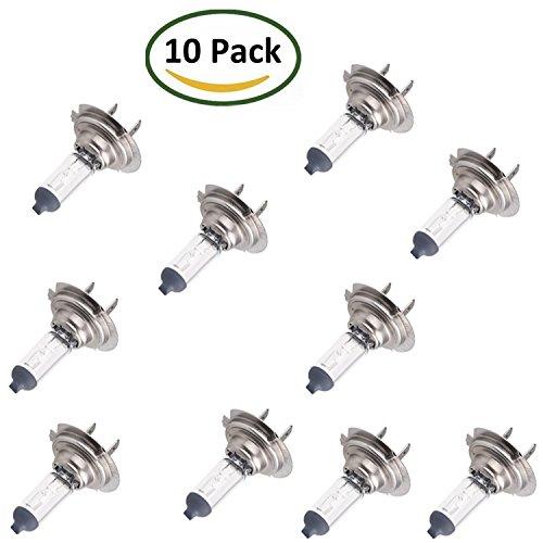 DaoRier Lot de 10 ampoules halogènes xénon H7 (477/499) 12 V 55 W PX26d