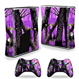 MightySkins Skin Compatible with X-Box 360 Xbox 360 S Console - Purple Tree Camo   Protective, Durable, and Unique Vinyl Decal wrap Cover   Easy to Apply, Remove, and Change Styles   Made in The USA