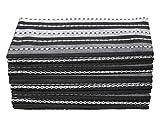 COTTON CRAFT Salsa Stripe Set of 12 Pure Cotton Oversized Dinner Napkins, 20 inch by 20 inch, Black...