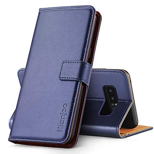 Hianjoo Hülle Kompatibel für Samsung Galaxy Note 8, Handyhülle Tasche Premium Leder Flip Wallet Hülle Kompatibel für Samsung Note 8 [Standfunktion/Kartenfächern/Magnetic Closure Snap], Blau