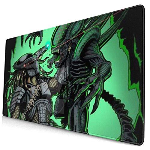 WH-CLA Alfombrilla De Teclado,Speedpaint Alien Vs Predator Alfombrilla De Ratón para Juegos, Extragrandes Y Llamativas Alfombrillas para Ordenador Portátil,40x75cm