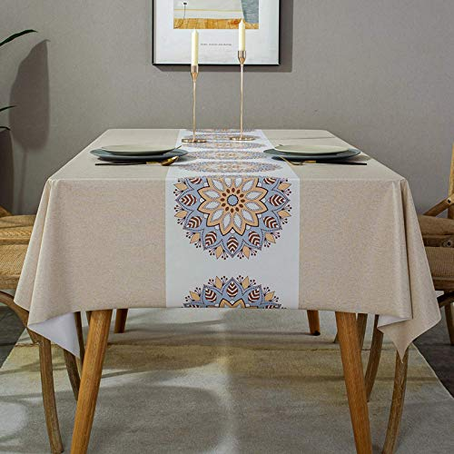 BKPH Home Manteles Hule Modernos Resistente al Agua,Mantel de PVC Fácil de Limpiar Mantel Rectangular de Comedor, Exterior, Cocina, Picnic