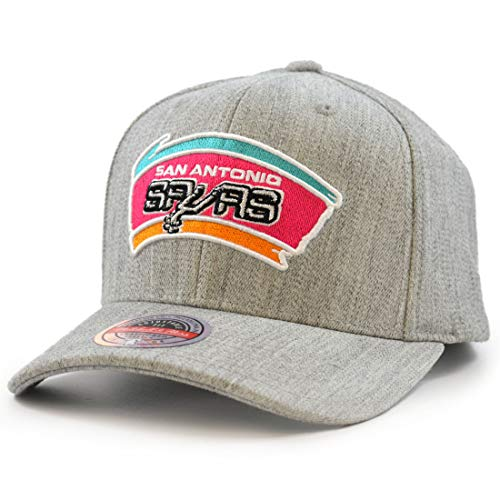 Mitchell & Ness Team Heather Redline San Antonio Spurs - Gorra, color gris