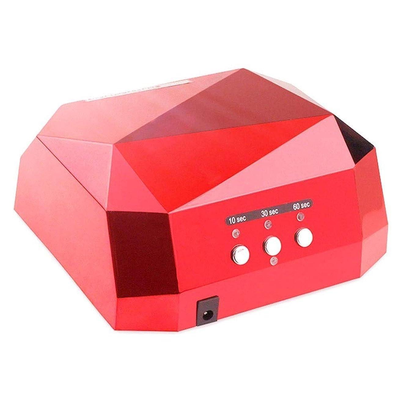 恵み虫を数える廃止DHINGM 12のLEDライト付きネイルランプ、ダイヤモンドLEDネイルライトセンサー36 W LEDネイル乾燥ランプ、インテリジェントな自動センシングは、耐久性に優れ、爪を傷つけることはありません