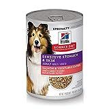 Hill's Science Diet Wet Dog Food, Adult, Sensitive Stomach & Skin, Salmon & Vegetable Entrée, 12.8 oz, 12-pack