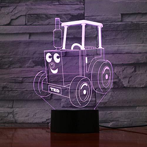 Train Railway Engine Table Lamp Locomotive Cartoon 3D Illusion Children Night Light Bedroom Thomas and Friends Gadget