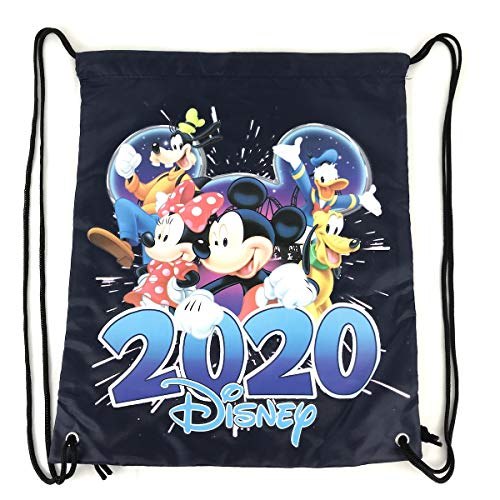 Disney Dated 2020 Mickey Mouse and Friends Drawstring Bag, 15 Inch