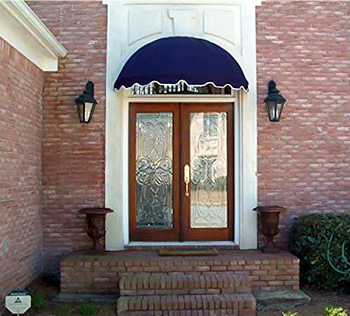 Dome Style Window Awning or Door Canopy 4' Wide in Sunbrella Awning Fabric - Navy Blue