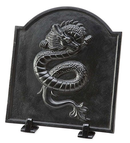 Best Buy! Plow & Hearth Cast Iron Fireback with Dragon Design