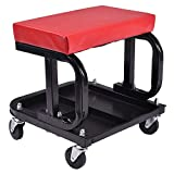 MOTOOS Rolling Creeper Seat Mechanic Stool Chair Repair Tools Tray Shop Auto Car Garage with 300 lbs Capacity