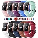 FunBand Fitbit Charge 3/Charge 4 Cinturino Edizione Speciale Morbido Sportivo di Ricambio in TPE, Accessori per Orologio alla Moda per Fitbit Charge 3/Charge 4