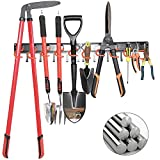 All Metal Garden Tool Organizer,Garage Organizer,Adjustable Storage System,Garage Wall Organizer for Rake,Broom and Yard Tools
