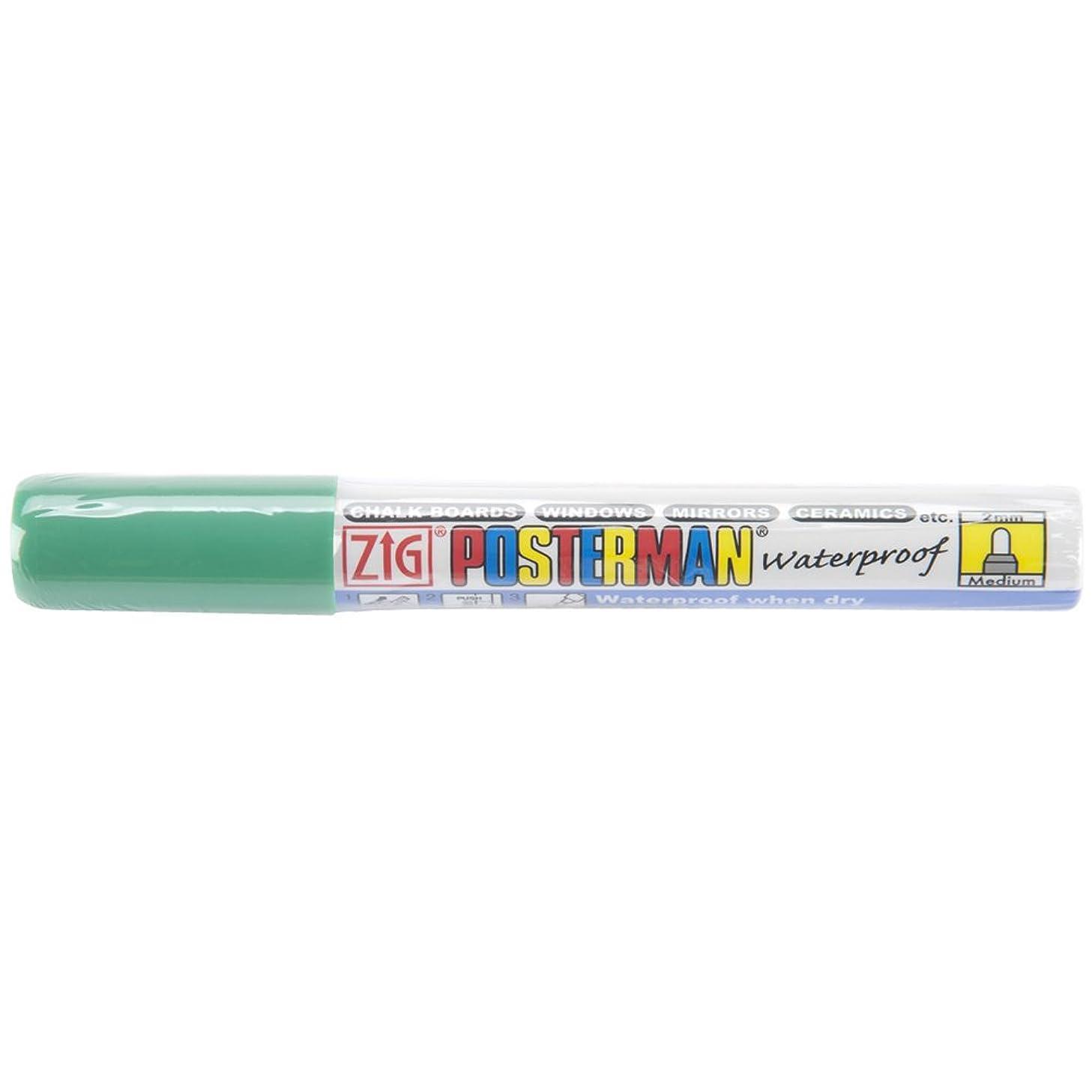 Zig 2mm Posterman Medium Tip Marker, Green