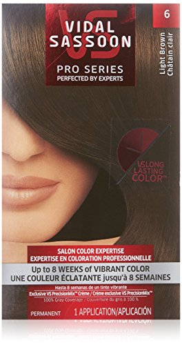 Vidal Sassoon Pro Series Hair Color, 6 Light Brown, 1 Kit
