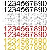 Números de Buzón Reflexivos 0-9 Números Pegatinas Reflectantes para Números de Buzón para Buzón Puerta Ventana Letreros Coches Número de Dirección 80 Piezas 4 Hojas