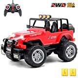 GMAXT Rc Cars,6062 Remote Control Car,1/18 Scale 15km/h,2.4Ghz 2WD Land Off-Road,with Car Light and 2 Rechargeable Batteries,Give The Child Best The Gift