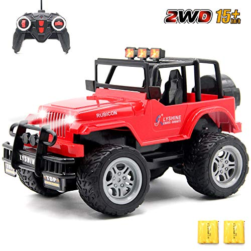 GMAXT Rc Cars,6062 Remote Control Car,1/18 Scale 15km/h,2.4Ghz 2WD Convertible Buggy,with Car Light and 2 Rechargeable Batteries,Give The Child Best The Gift