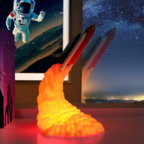 Mobestech Impresora 3D Cohete Lámpara de Noche Cohete Lá