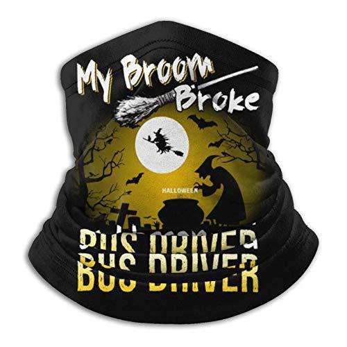 AEMAPE Mein Besen brach, Also wurde ich EIN Busfahrer. Lustiges Halloween-Halsmanschettenwärmer-Sturmhauben-Schal-Kopftuch