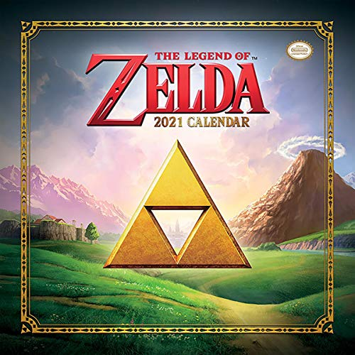 Pyramid The Legend of Zelda Kalender 2021 - Offizieller Wandkalender 2021, 12 Monate, original englische Ausführung.