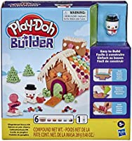 Play-Doh Builder Gingerbread House Toy Building Kit for Kids 5 Years and Up with 6 Non-Toxic Colors - Easy to Build DIY...