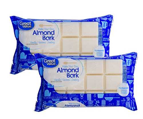 Great Value Make Your Own Almond Bark, Microwaveable Vanilla Coating for Baking, Toppings, Sweets - 2 Pk (3 lbs)