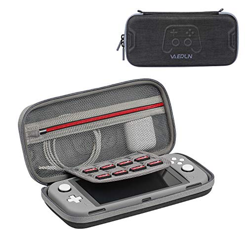 Vanerdun Nintendo Switch Lite Carrying Case with a Protective Cover - High Quality Travel Case for Nintendo Switch Lite, Compatible with Console and System Accessories, with 8 Game Card Cartridges