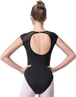 comprar comparacion Bezioner Maillot de Danza Leotardos de Ballet Gimnasia Body Clásico para Mujer y Niñas