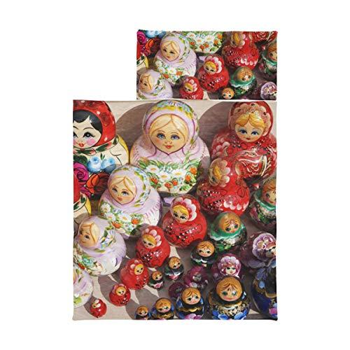 Weiche Kleinkind-Nickerchenmatte Bunte russische Nesting Dolls Mädchen-Nickerchenmatten Weiche Mikrofaser Leichte Kleinkinderbett-Nickerchenmatte Perfekt für Vorschule, Kindertagesstätte und Übernac