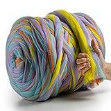 Meriwoolart 100% lana de merino para punto y ganchillo con hilo de 4-5 cm de grosor, lana de merino gruesa para bufanda, manta y almohada xxl (unicorn, 100 g)