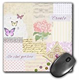 Do what you love - girly pastels cream and pink butterfly mousepad