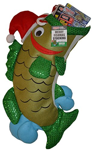 RIGRAP Green Merry Fishmas Stocking, 22'+ x 12'