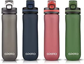 Opard Sports Water Bottle, 20oz BPA Free Non-Toxic Tritan Plastic Water Bottle with Leak Proof Flip Top Lid for Gym Yoga Fitness Camping