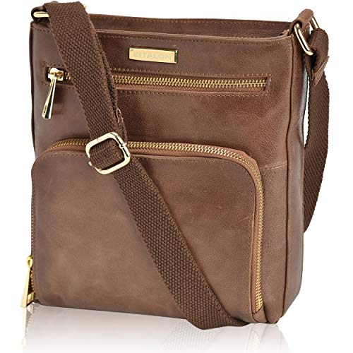 Material: Manufactured from 100% oil-rich genuine leather, our tan brown crossbody bag for women is a perfect style upgradation you need. The supreme quality waxy leather is highly durable that makes it a versatile option for daily use. Construction:...