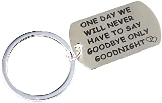 Meiligo Boyfriend Girlfriend Gift One Day We Will Never Have to Say Goodbye Keychain Long Distance Relationship Gifts Friends Key Chain