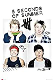 Close Up 5 Seconds of Summer Poster Squares (61cm x 91,5cm)