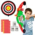 CIRO Kids Action Archery Bow Arrow Toy Set with Target Bow Soft Bullets