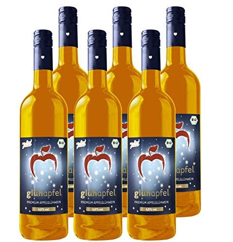 Elbler Vino, Suave 4,0% Vol, 6 X 0,75 L, Vino Caliente de Manzana Ecológico Con Extractos Invernales de Vainilla, Canela y Clavo, Sidra de Manzana, Vegano y Sin Gluten, 100% Zumo Directo