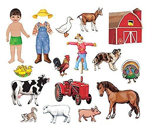 My Farm Friends Felt Figures for Flannel Boards Precut by Little Folk Visual